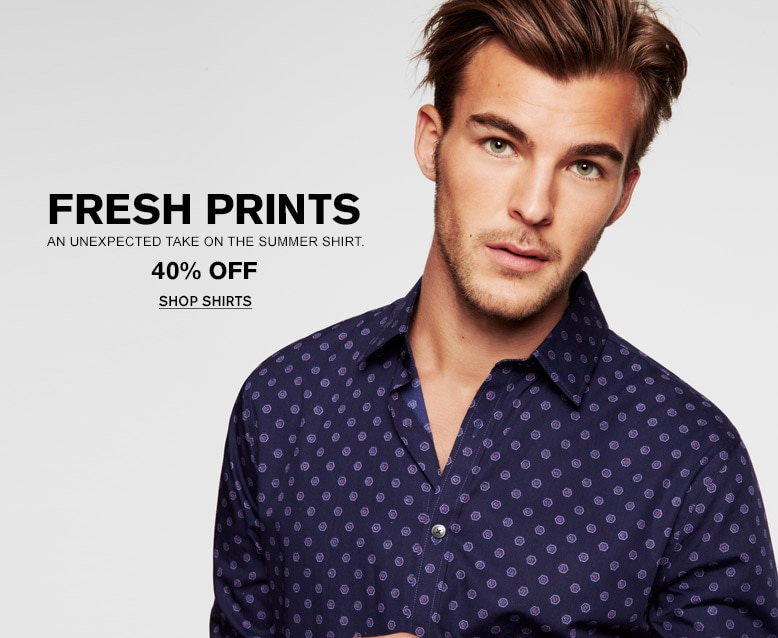 Fresh Prints | An unexpected take on the summer shirt | 40% Off