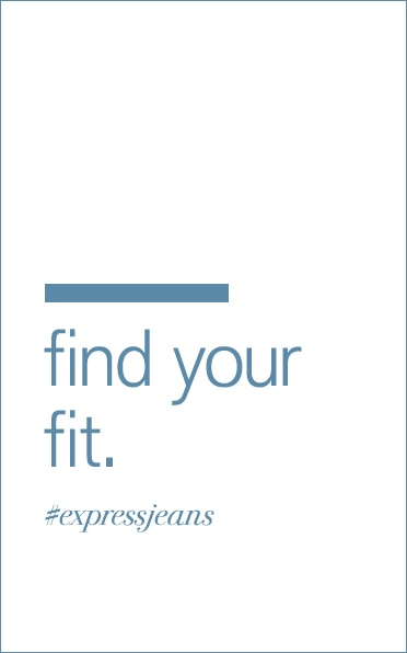 Mens Express Jeans Fit Guide