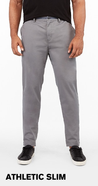 Mens Athletic Slim Pants